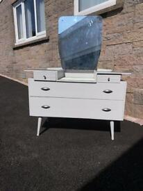 Upcycled Lebus furniture, antique dressing table and wardrobe