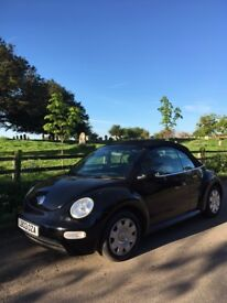 Black VW Convertible Beetle, Low Mileage, An Honest and Reliable Car