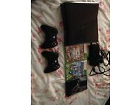 250gb Xbox 360,2 controllers&games.
