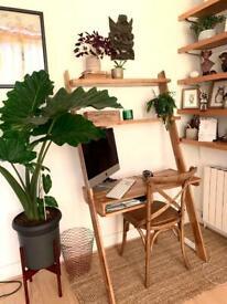 Wooden Leaning Desk