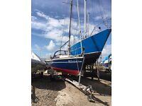 Sailing Boat - Jaguar 22 with Road Trailer