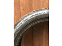 2 x Continental Sport Contact 5 205/45 R17 88W (circa 4.7 - 5.1mm tread depth & free of any damage)