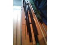 SHAKESPEARE BETA-GRAPHITE 12FT MATCH ROD AS NEW(VERY LIGHT WEIGHT)