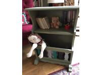 Upcycled compact bookcase with storage