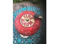 Antique fire alarm bell