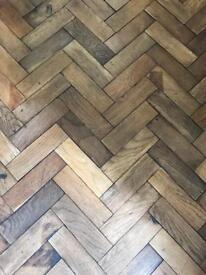 Parquet Flooring reclaimed antique oak