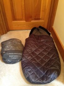 Travel system rain cover and mothercare foot muff both barely used and new