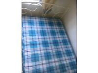 Loverly single bed and mattress for sale only used once excellent condition