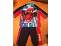 Kids swimwear short and top set Spider-Man 2-3yrs