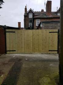Gate. Driveway gate h6f w12f heavy duty extra strong