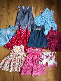 Pretty summer dresses, aged 12-24months (Monsoon, Gap, Next etc)