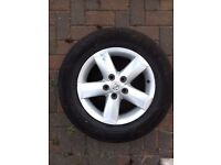 Nissan Qashqai Juke 5 Spoke Alloy Wheels And Tyre 16 Inch