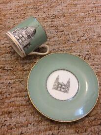 china Cups and saucer sets, wedgwood, coalport, wade