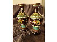 Antique Chinese Cloisonne Vases