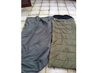 Tracker sleeping bag and thermal bed chair cover