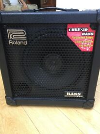 Roland Bass cube 30w practice amp. Now outgrown.