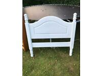 Pine / white chalk painted single bedstead