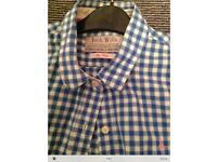 Jack Wills Women's boyfriend fit blue checked shirt size 12
