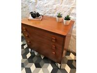 Stag teak 3 drawer unit
