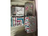Next bedding, curtains and bed throw