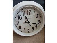 Large wall clock- cream metal