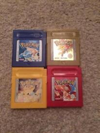 Various Nintendo gameboy Pokemon games