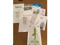 WII console and various pieces