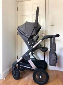 Stokke trailz pram pushchair. Excellent as New! +accessoires