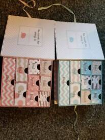 2x baby keepsake boxes