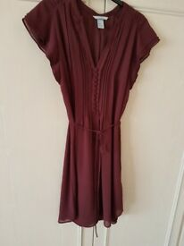H n M brand new maroon summer dress