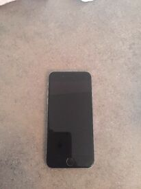 I phone 6 64gb space grey with black Apple cover locked to 02
