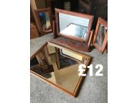 Dressing table & another mirror pine