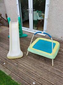 Kids slide & trampoline