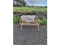 Habitat Indu Metal 3 Seater Garden Bench - Pink A-