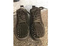 Christian Louboutin low top spikes size 9 black
