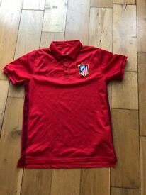 5aee5487fb48a3 Nike La Liga Spain Atletico Madrid Red Training Polo Shirt Home Football  Shirt Slim Fit -
