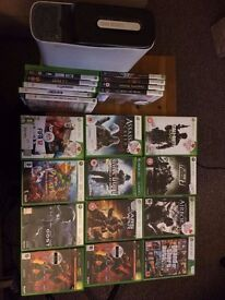 Xbox 360, 23 games, and controller