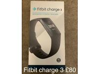 Fitbit charge 3. Advanced fitness tracker. Brand new.