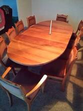 Solid blackwood dining extension table + 10 chairs Port Sorell Latrobe Area Preview