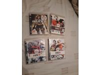 Tomb Raider, and Fifa 8,9 and 10