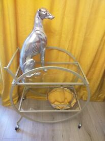 Beautiful art deco style cocktail drinks trolley bar