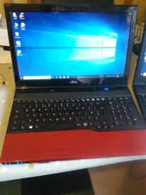 BARGAIN MODERN LAPTOP (Red or Silver available) Windows10 wifi webcam hdmi ssd or hdd choice.