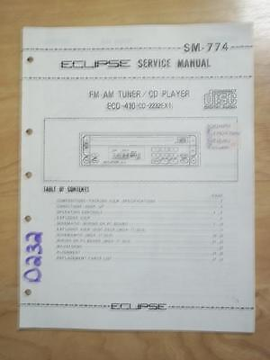 Eclipse Radio Service Manual for the ECD-410 Tuner/CD Player CD-2232EX1   mp