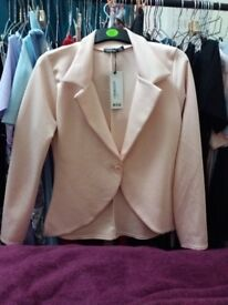 size 14 nude pink blazer boohoo brand new with tags