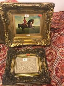 4 antique paintings