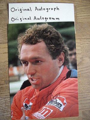 Jochen Mass Original  Autogramm Autograph Formel 1 Grand Prix McLaren ATS Arrows