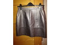 Silver mini skirt by New Look