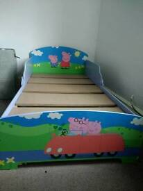 Childs Peppa Pig Bed. Junior bed.