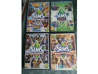 PC DVD Selection of Sims 3 and 2 Games and others