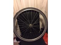 700c hybrid bike / road bicycle wheel with shwalbe tyre and tube